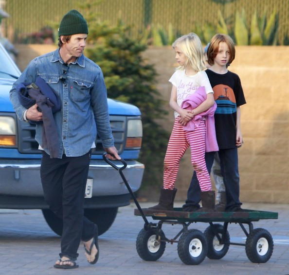 Daniel Moder and Kids Pick Up Plants at a Nursery