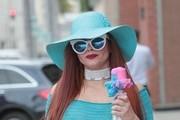 Phoebe Price Has a Colorful Day Out