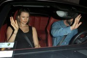 Maroon 5 singer Adam Levine and his pregnant wife Behati Prinsloo go to dinner together at Craig's Restaurant in West Hollywood, California on July 30, 2016.