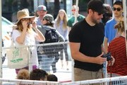 Pregnant Emily Blunt Goes To Farmers Market With Family