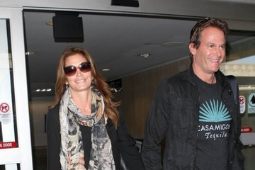 Rande Gerber Cindy Crawford and Rande Gerber Arrive at LAX