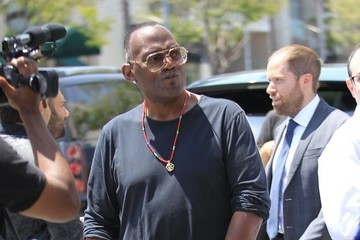 Randy Jackson Randy Jackson Goes Out for Lunch in Beverly Hills
