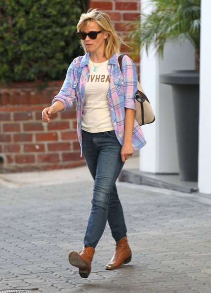 'Wild' actress Reese Witherspoon seen leaving her office after handling her business in Beverly Hills, California on April 15, 2014.
