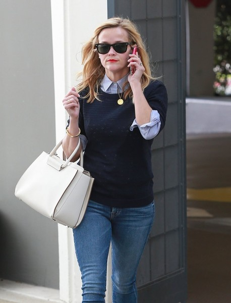 Reese Witherspoon Leaving Her Office