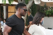 NFL star Reggie Bush and his pregnant wife Lilit Avagyan enjoy lunch together at Il Pastaio in Beverly Hills, California on June 12, 2015. The happy couple are currently expecting their second child together.