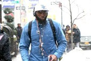 Reggie Evans Out in Snowy NYC