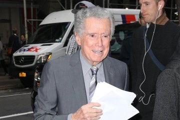 Regis Philbin Celebrites At 'The Today Show' In NYC