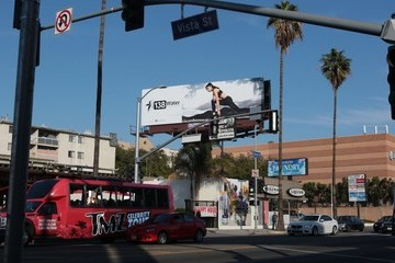 Rey Robiin Rey Robiin Poses With Her Own 138 Water Billboard on Sunset