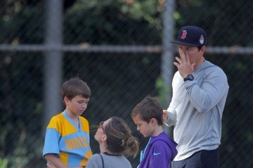 Rhea Durham Mark Wahlberg and Rhea Durham Watch Their Son's Soccer Game