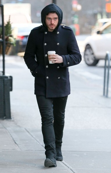 Actor richard madden out getting a coffee in new york city new york
