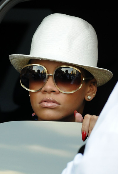 Rihanna spends the afternoon at the Soho House in the West Village.
