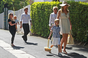 Rod Stewart Sean Stewart Rod Stewart And Family Leaving An Easter Party
