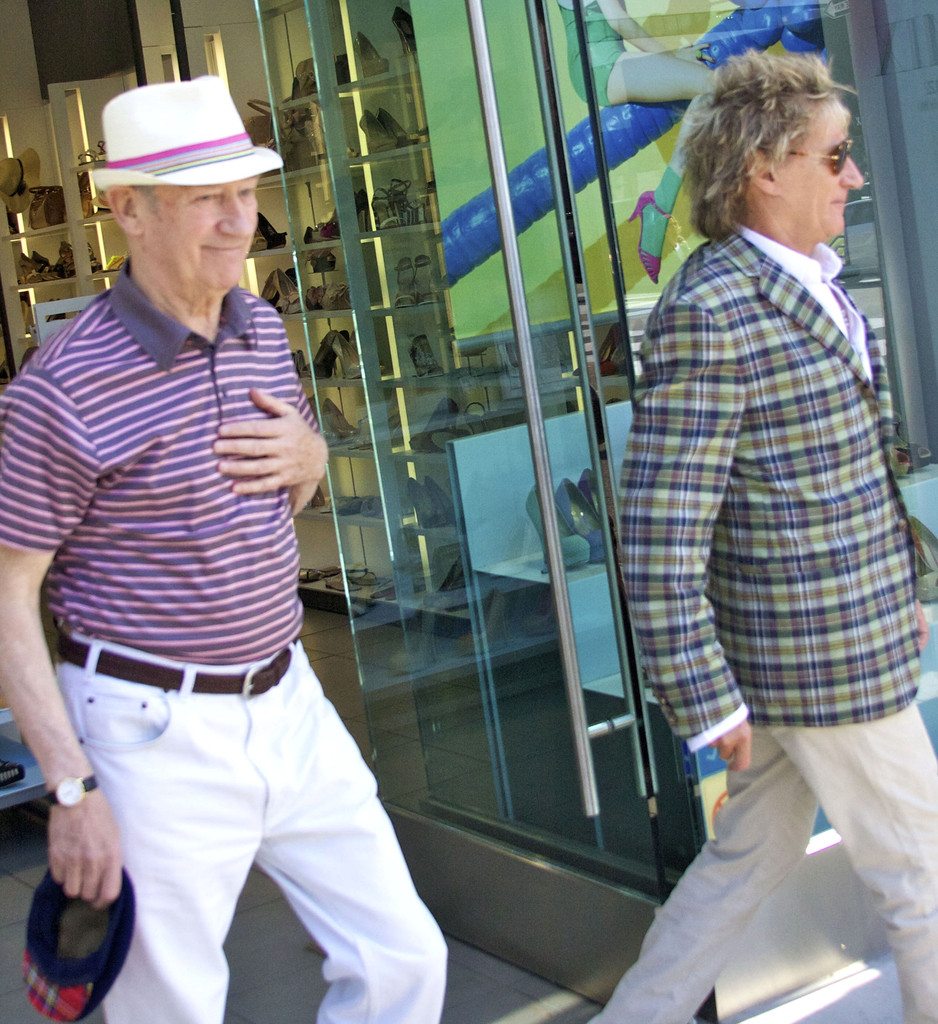 Sale News And Shopping Details March 2012: Rod Stewart Shopping With His