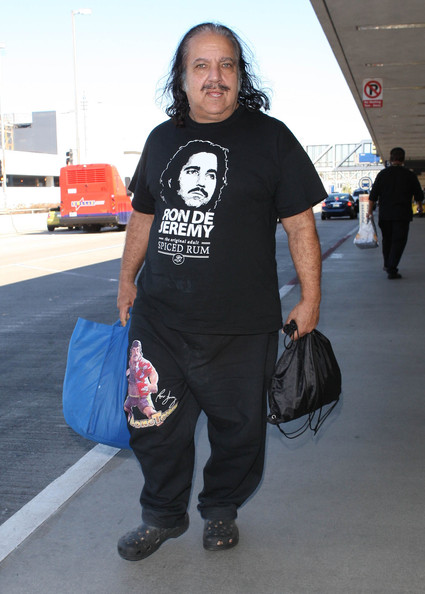 Ron Jeremy Arriving On A Flight At Lax