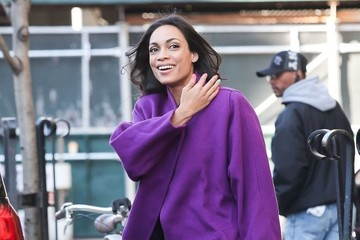 Rosario Dawson Rosario Dawson Is Spotted Outside Her Hotel in NYC