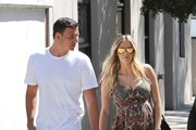 Olympic swimmer Ryan Lochte and his pregnant fiance Kayla Reid were seen leaving a lunch outing in West Hollywood, California on March 24, 2017.