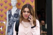 Duck Dynasty star Sadie Robertson is spotted shopping at 'The Grove' in Hollywood on March 20, 2016.