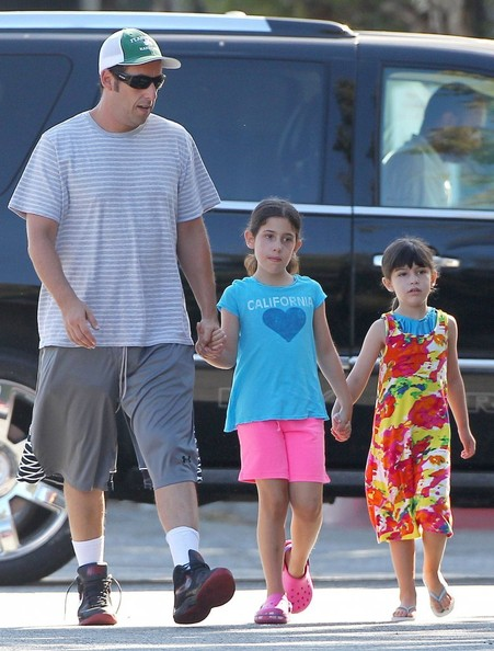 Adam Sandler Takes His Girls Sadie And Sunny Sandler