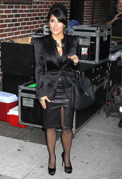 Salma Hayek - Salma Hayek At The 'Late Show With David Letterman'