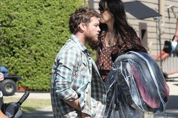 Sam Worthington Stars Film 'Cake' in LA