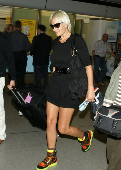 Singer Sarah Connor arrives at Tegel airport in Berlin.