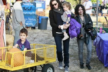 Allison Adler Sarah Gilbert And Allison Adler At The Mr. Bones Pumpkin Patch
