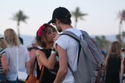 Sarah Hyland and her boyfriend Matt Prokop are inseparable at Day 1 of the first weekend of The Coachella Valley Music and Arts Festival in Coachella, California on April 11, 2014.