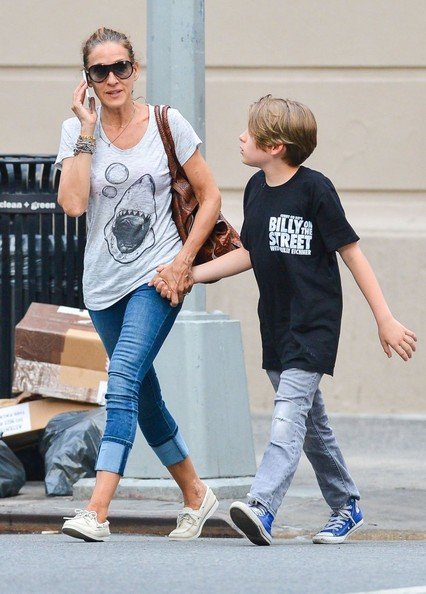 Sarah Jessica Parker Out with Her Son