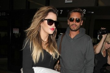 Scott Disick Khloe Kardashian and Scott Disick at the Airport