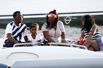 D'Lila Combs Sean 'P. Diddy' Combs And Family On His Yacht In St. Barts