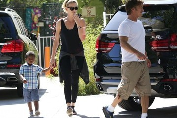 Sean Penn Charlize Theron and Sean Penn Out with Jackson