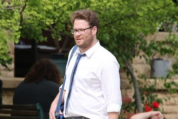 Seth Rogen Zac Efron Films 'Townies' in LA