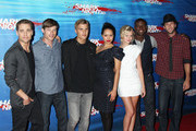 Celebrities attend the premiere of 'Shark Night 3D' at the Universal Citywalk theatre in Universal City, CA.