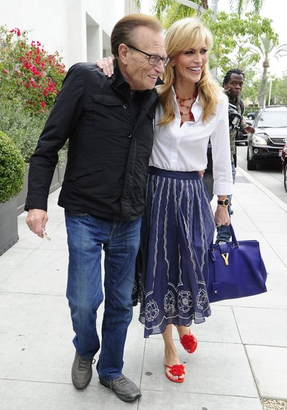 Larry King Grabs Lunch with His Wife