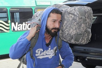 Shia LaBeouf Shia LaBeouf Catches a Flight