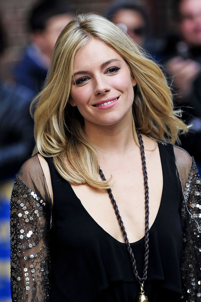 Sienna Miller Prom Hair Ideas The Center Part Prom Hair