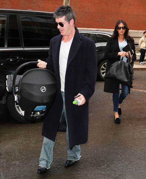 Simon Cowell Out with His Newborn Son