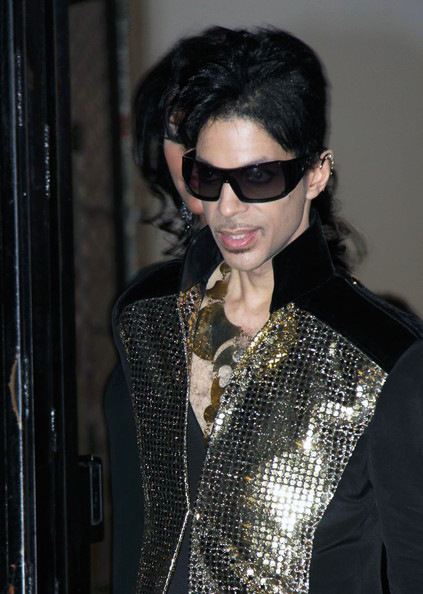 Prince Singer Prince is seen leaving the Yves Saint Laurent Spring 2010 Fashion Show during Paris Fashion Week.