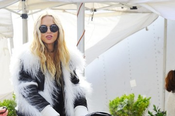 Skyler Berman Rachel Zoe Shops at a Farmer's Market With Her Family