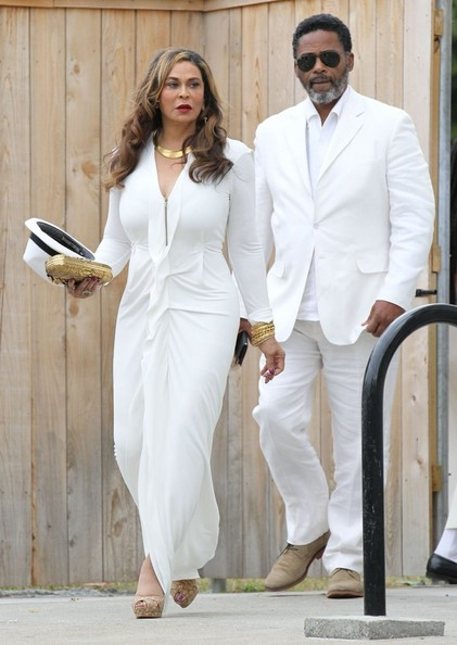 Singer Solange Knowles weds Alan Ferguson in front of friends and family in New Orleans, Louisiana on November 16, 2014. The pair enjoyed a bike ride instead of a limo ride after the wedding.<br /> <br /> Pictured: Tina Knowles
