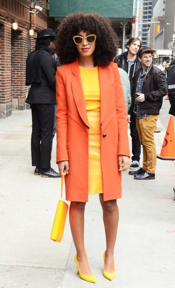 Solange Knowles Stops by 'Letterman'