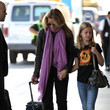 Sophia Macy Felicity Huffman Departs LAX with Her Daughter Sophia