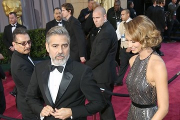 Stacy Keibler George Clooney 85th Annual Academy Awards - Arrivals C