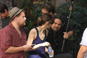 Actors Keira Knightley, Mark Ruffalo and James Corden film 'Can A Song Save Your Life?' in New York City on July 26, 2012.