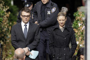Actresses Anna Torv and Jasika Nicole on the set of 'Fringe' in Vancouver, Canada.