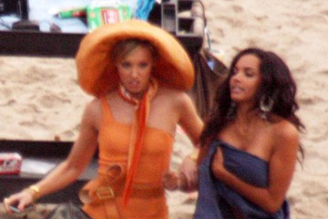Jessica Lucas Katie Cassidy Stars On The Set Of 'Melrose Place' In Malibu 2