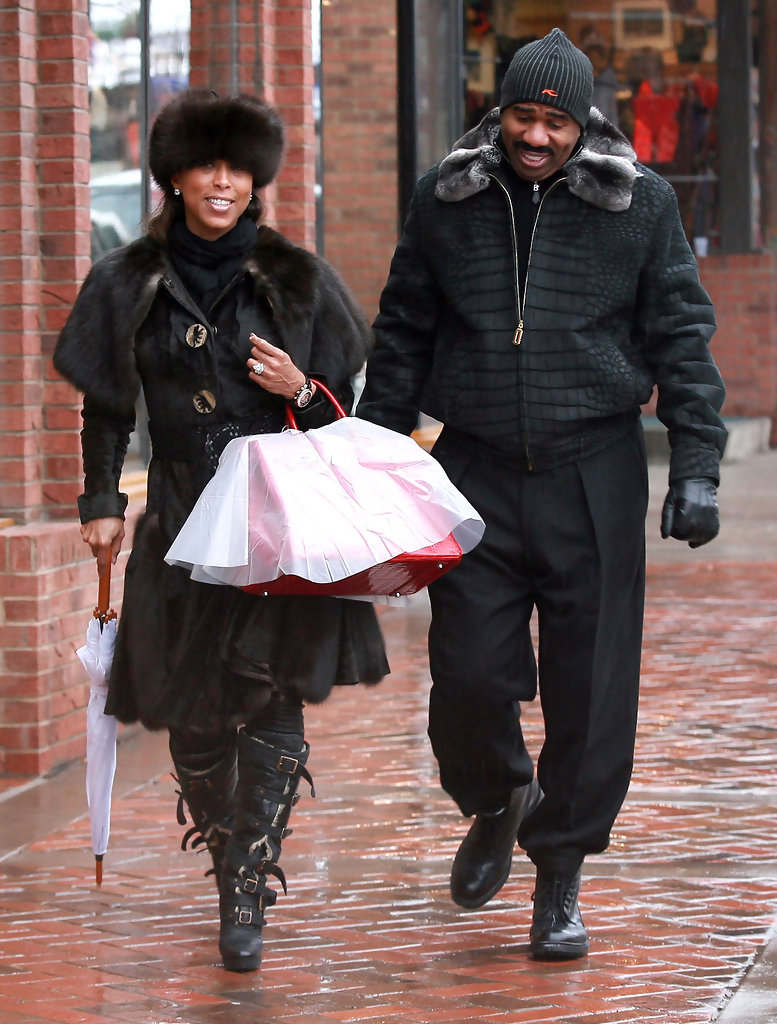 Actor Steve Harvey And His Wife Marjorie Bridges Out Shopping On A ...
