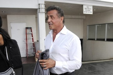 Sylvester Stallone Sylvester Stallone Has Lunch at E. Baldi in Beverly Hills