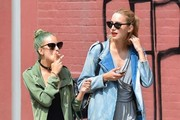 Bruce Willis and Demi Moore's daughter Tallulah Willis and her blog partner Mallory Llewellyn spotted out and about in New York City, New York on June 23, 2014. Tallulah was enjoying a cigarette as the two strolled and talked.