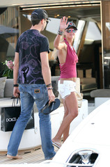 Michael Axtmann Tara Reid & Boyfriend Vacationing In St Tropez